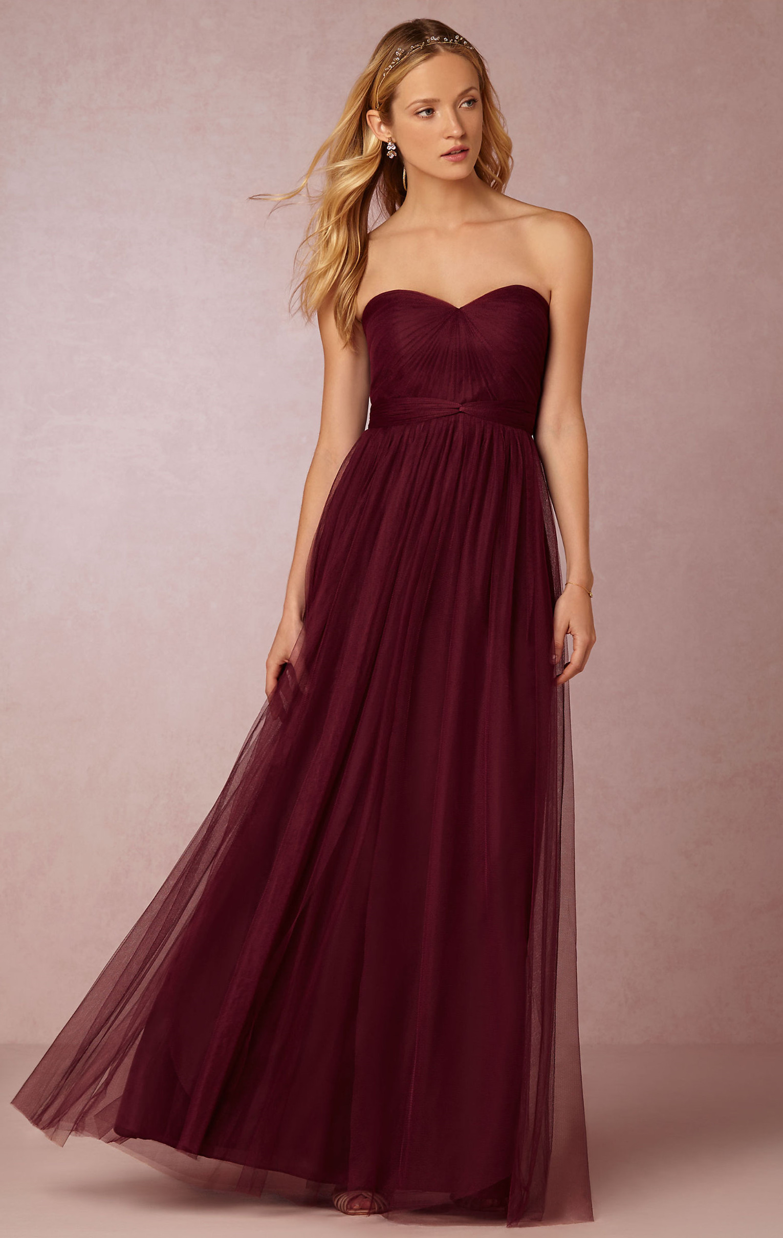 20 most popular red bridesmaid dresses for different shapes burgundy tulle bridesmaid dress ombrellifo Image collections