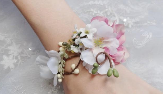 How to make a corsage using fake flowers flowers healthy wrist corsages great options of fake flowers for wedding everafterguide mightylinksfo