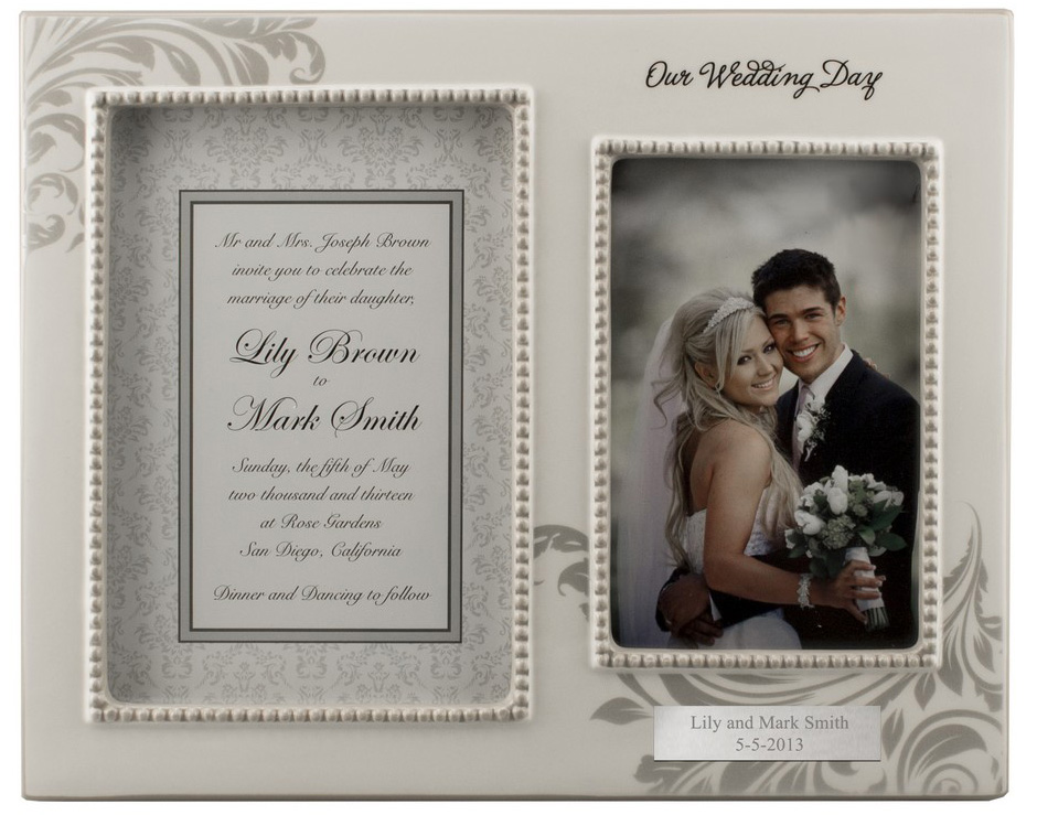 Customized Frame For Wedding Invitation Vows