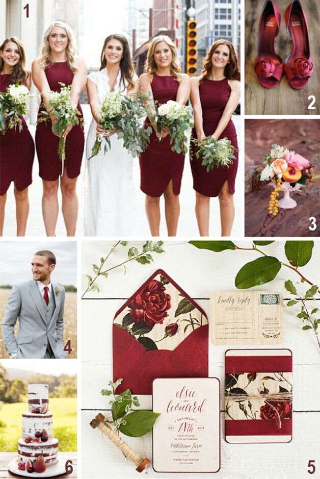 16 most refreshing and trendy spring wedding colors everafterguide marsala with neutral shades junglespirit Choice Image