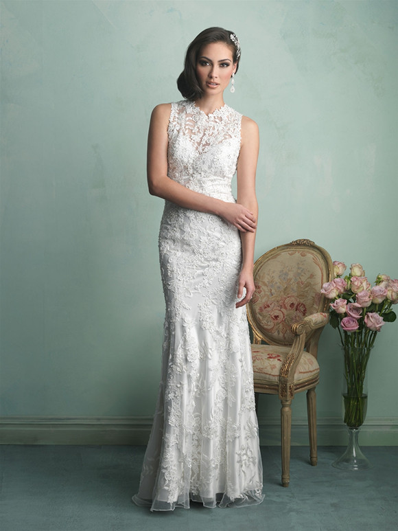 f1cb6c7a3 20 Best Choices of Sheath Wedding Dress - EverAfterGuide