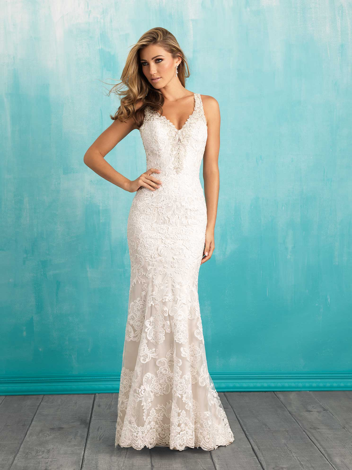 20 Best Choices of Sheath Wedding Dress - EverAfterGuide