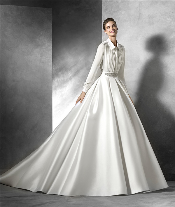 Full Sleeved Ball Gown