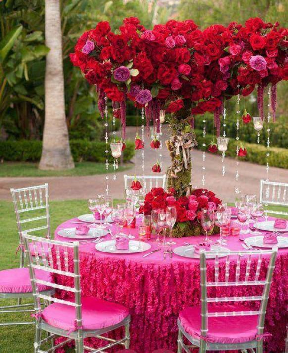 28 round table centerpieces in different styles everafterguide pink centerpiece for spring wedding mightylinksfo Gallery