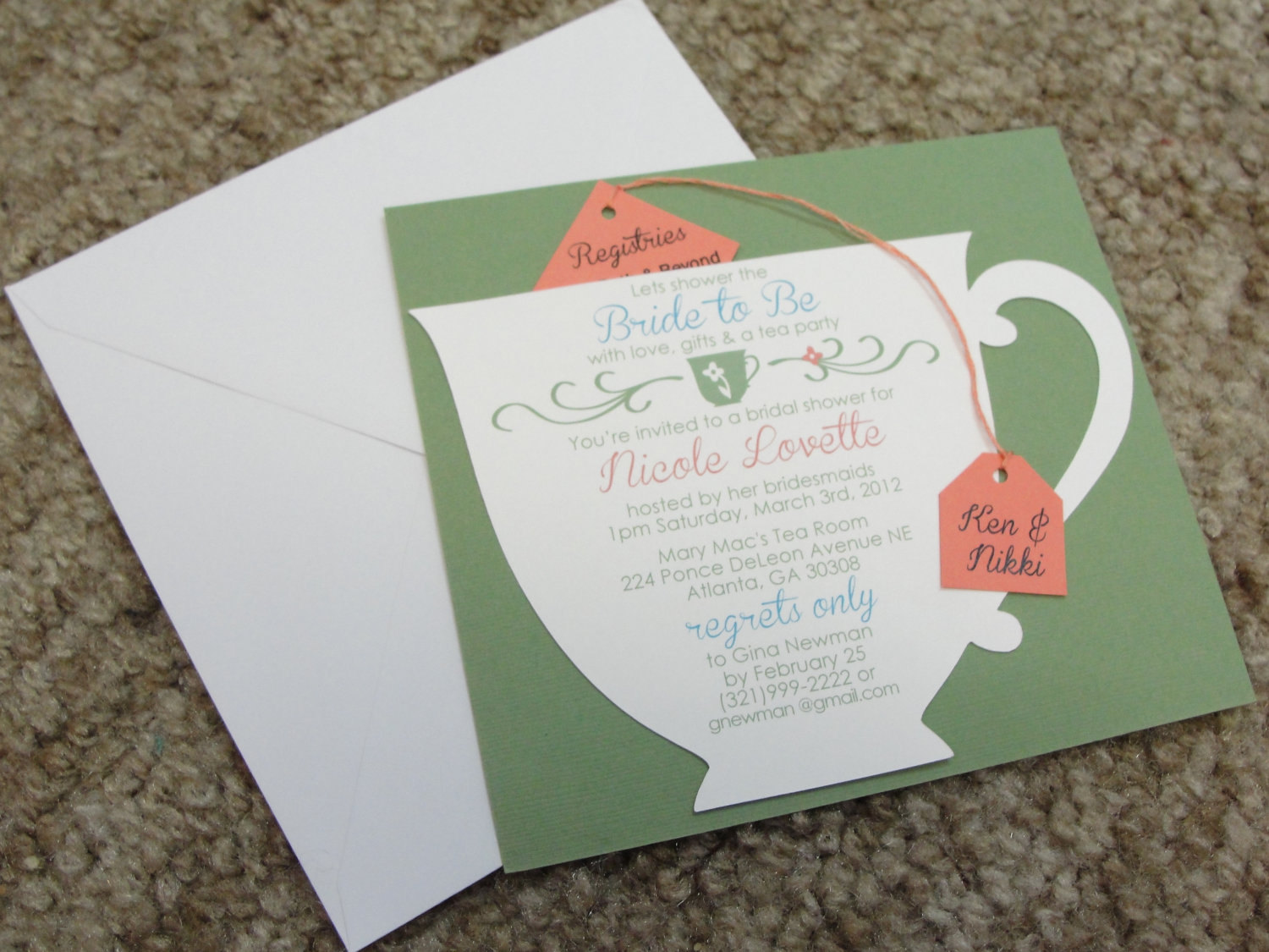 Tea party themed bridal shower essentials and ideas everafterguide the invitation the invitations to the tea party filmwisefo Images
