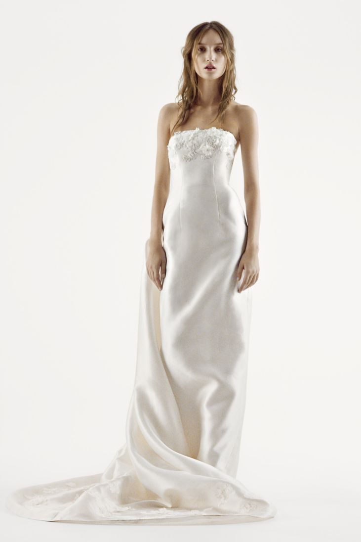 20 best choices of sheath wedding dress everafterguide for White vera wang wedding dresses