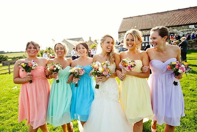 Pastel Colors Work Well For A Summer Wedding Dress Your Bridesmaids In Fl Print Dresses Could Also Be Good Idea