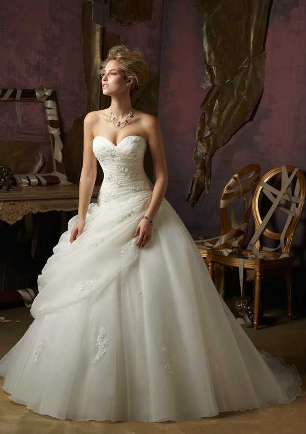 Sleeveless Organza Ball Gown