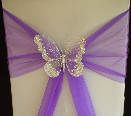 Butterfly Chair Decorations & 20 Inspring and Affordable Wedding Chair Decorations - EverAfterGuide