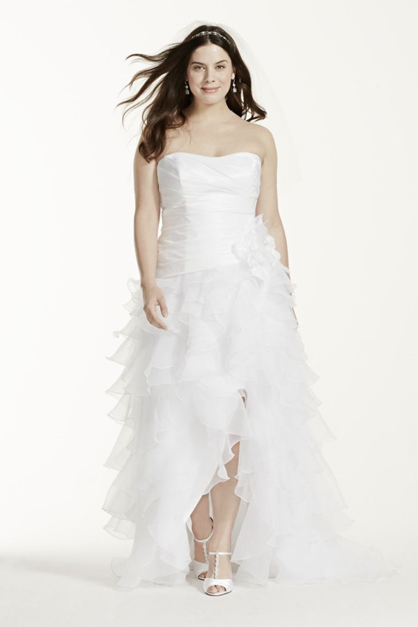 19 plus size wedding dresses for our curvy girls everafterguide high low wedding dresses junglespirit Gallery