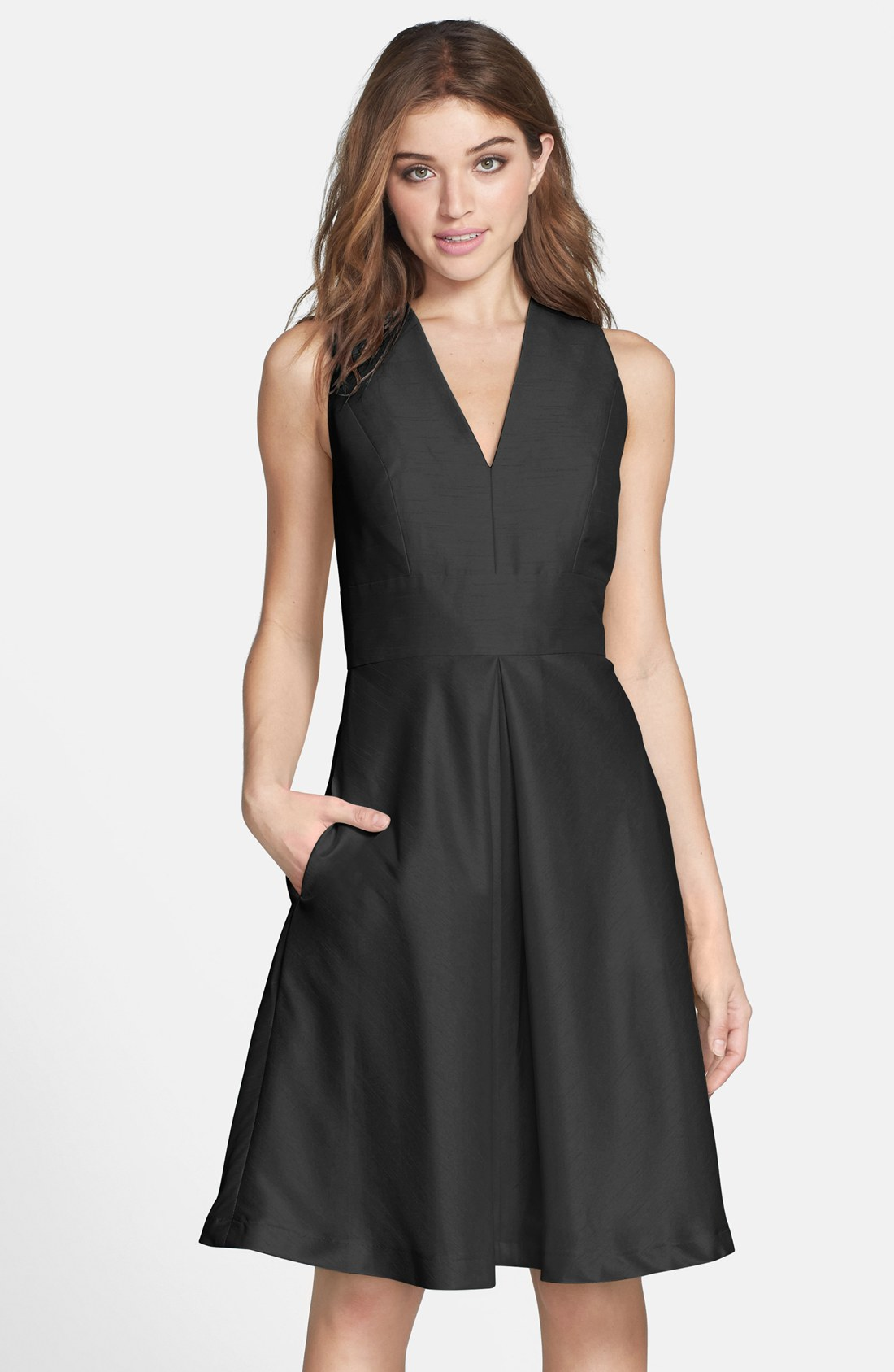 can you wear black to a wedding black dresses for weddings V Neck Knee Length Cocktail Dress