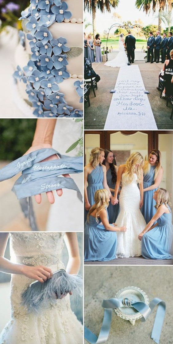 16 most refreshing and trendy spring wedding colors everafterguide serenity pale blue white junglespirit Choice Image