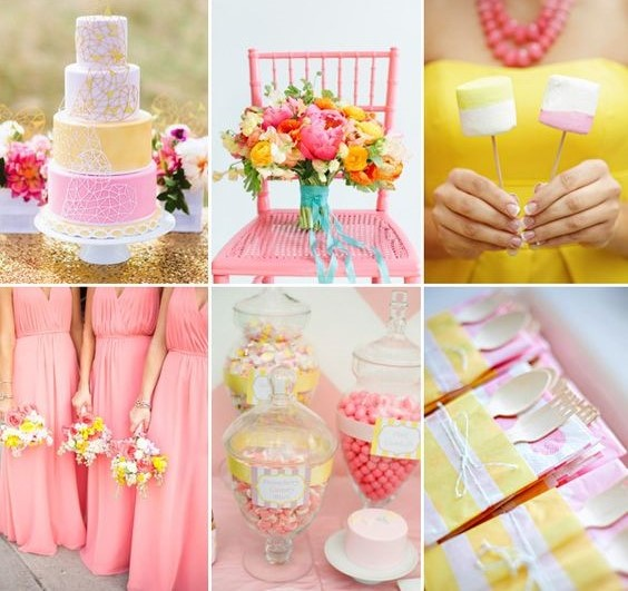 16 most refreshing and trendy spring wedding colors for Balloon decoration color combinations