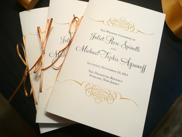 wedding program wording everafterguide