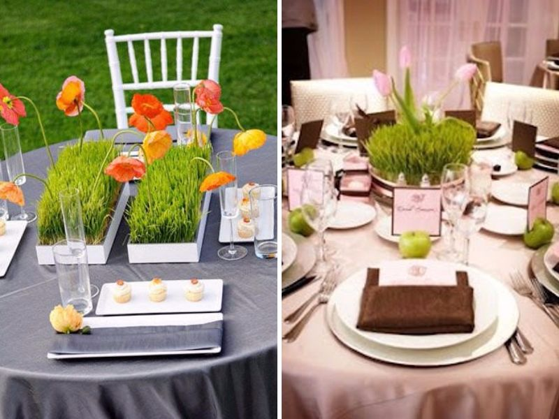Superieur Wheat Grass Centerpieces