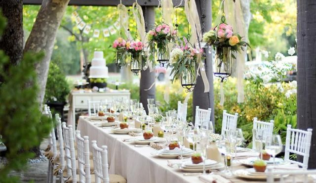 15 wonderful rehearsal dinner theme ideas everafterguide lighter food is perfect for this sophisticated event you can never have too many flowers at a garden party decorate with different flowers and plants to junglespirit Image collections