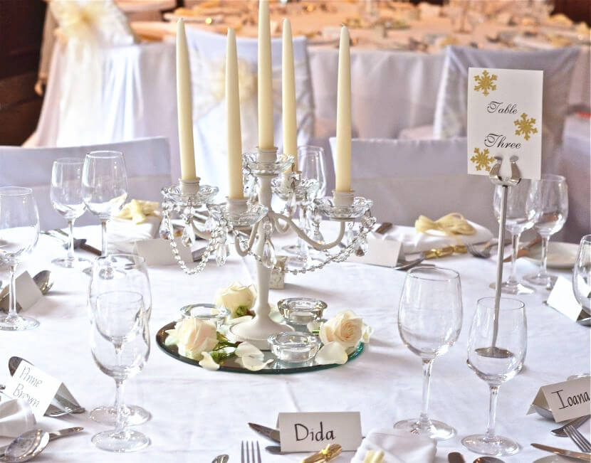 Elegant Crystal Candle Stands as Centerpieces & 24 Best Ideas for Rustic Wedding Centerpieces (with Lots of Picture ...