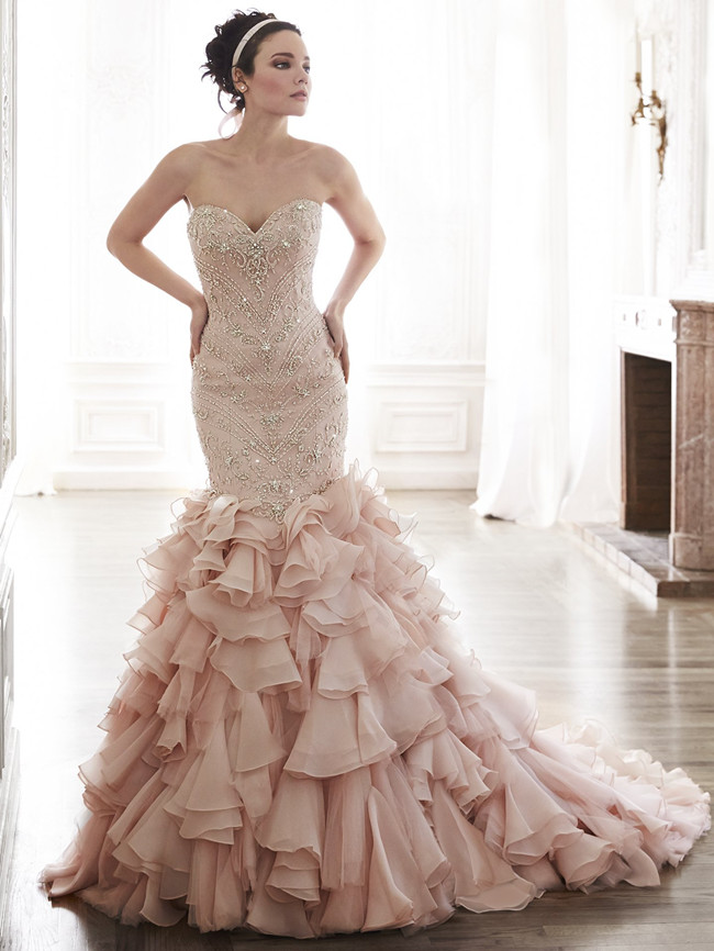 Add some color 19 stunning colored wedding dresses everafterguide 19 stunning colored wedding dresses junglespirit