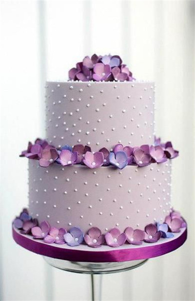 This Pink Purple Wedding Cake Is Just Elegant Hydrangeas Are A Popular Flower For Bouquets And Decor So Match Your With Simple Three Tiered