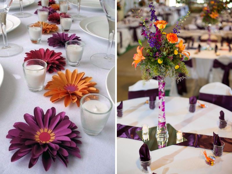 20 Orange And Purple Wedding Ideas