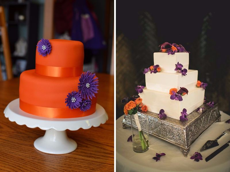orange and purple wedding cake ideas 20 orange and purple wedding ideas everafterguide 18038