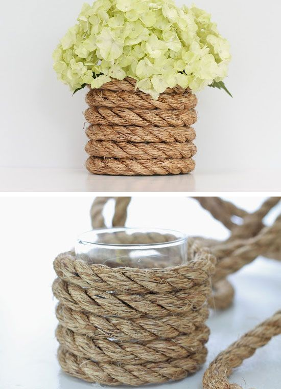 24 best ideas for rustic wedding centerpieces with lots of wedding centerpieces ideas for simplicity and creativity at a time a simple jar can be wrapped skillfully with a nautical rope junglespirit Images