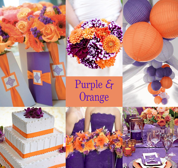Ideas Anything Is Possible If You Are Up To It Read On And Discover How Make A Classy Beautiful Orange Purple Wedding Come Life