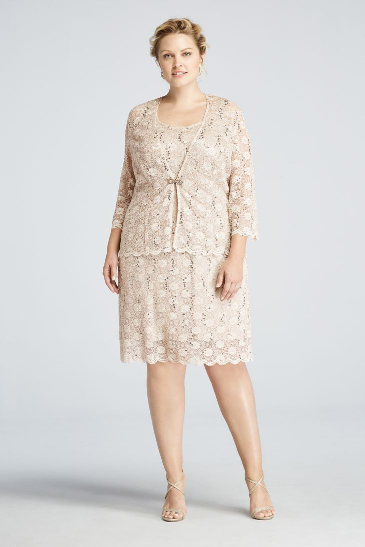 Lace Jacket Dress This Champagne Semi Formal