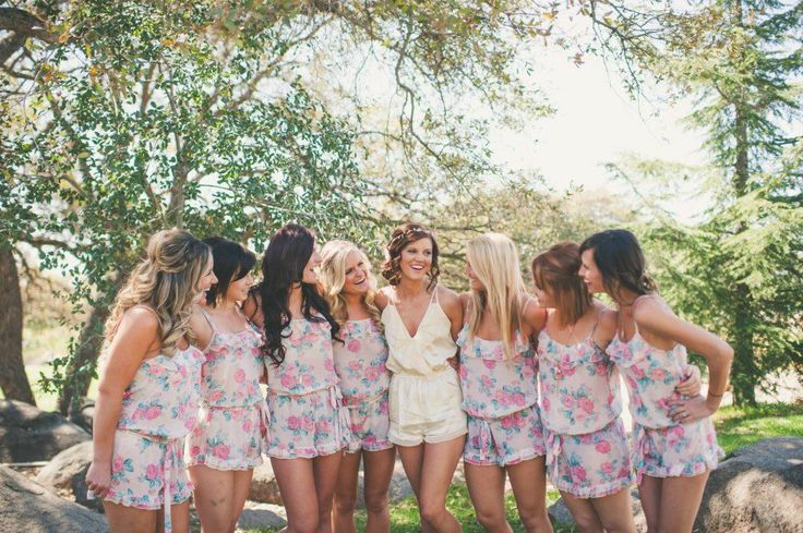 2a57eda8b8e4 10 Wonderful Bridal Party Being Ready Outfits for Inspirations ...