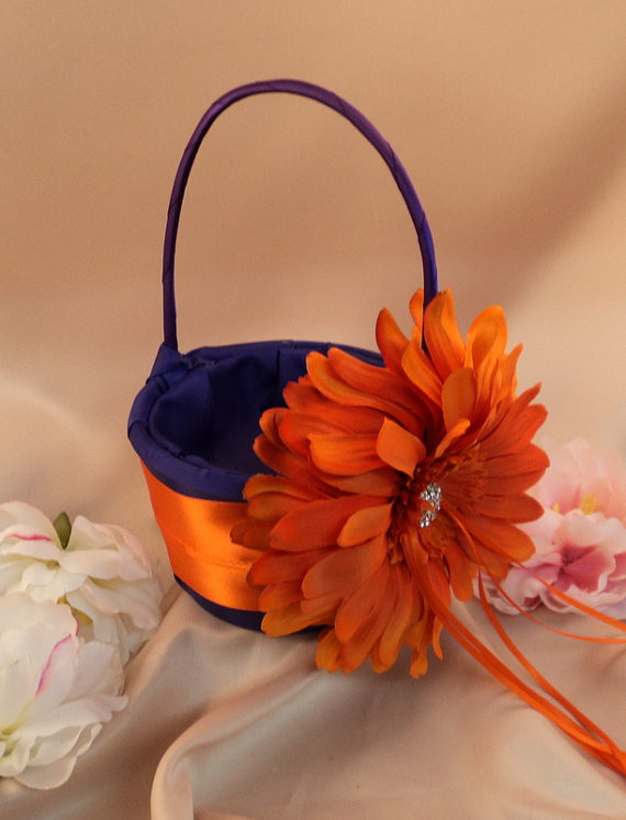 Purple And Orange Flowers For Wedding - Flowers Healthy