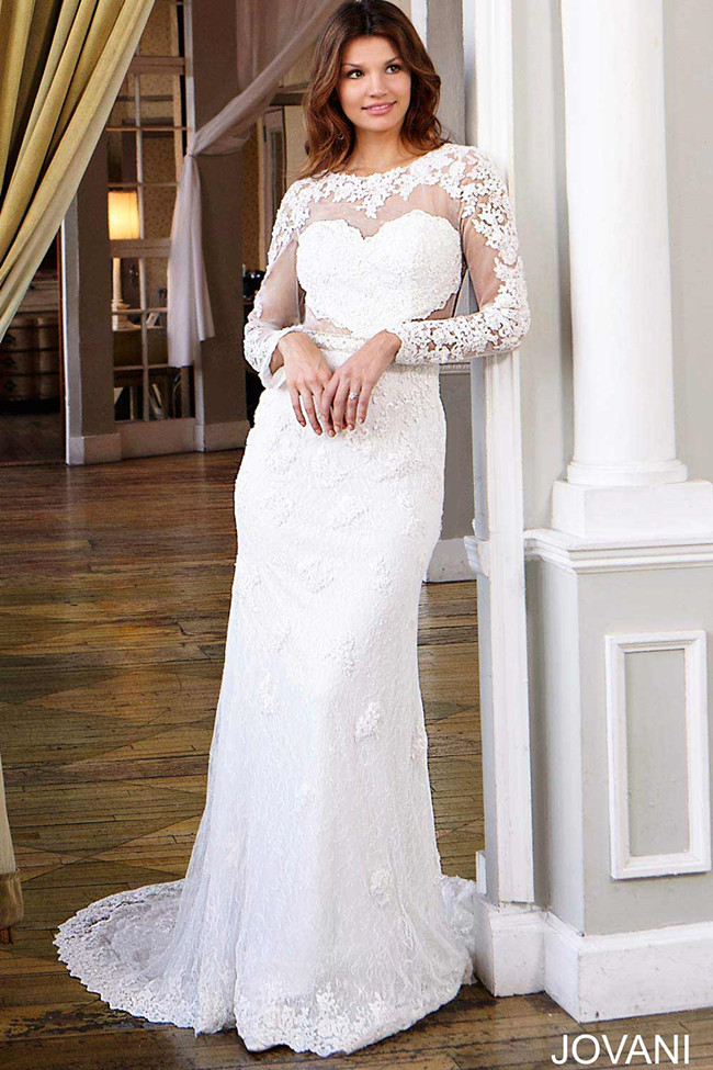 Long Sleeve Lace Wedding Dress JB25084