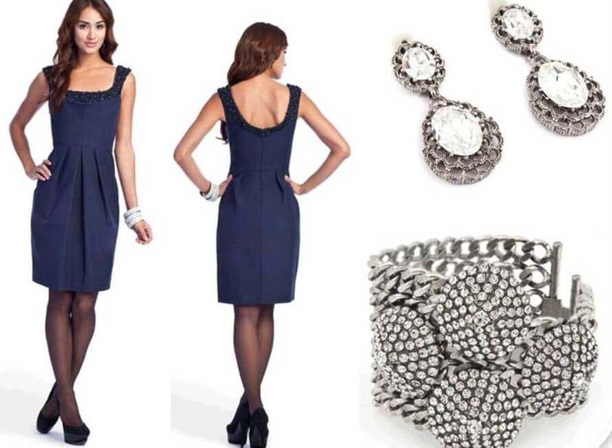 8e0e1a43fac2 Which Color Jewelry Goes with Dark Blue Dresses  - EverAfterGuide