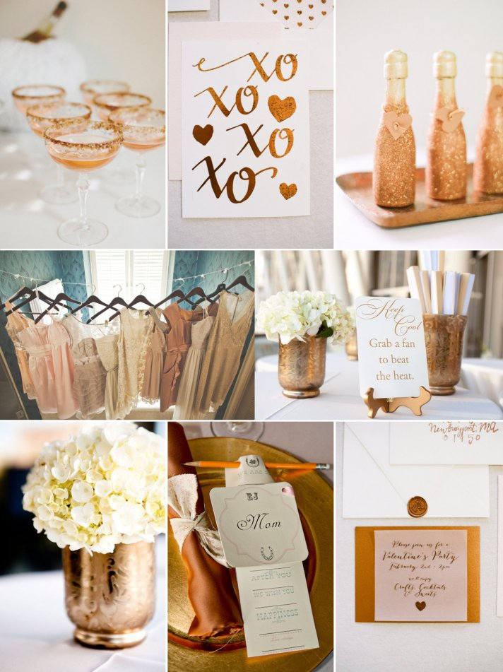 The Gold Bronze And Copper Color Palettes Can Be Used To Dress Table Settings Add Accents Fl Arrangements As Well Many Other Wedding Details