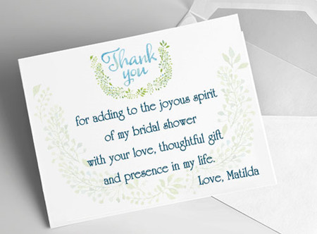 Etiquette And Samples Bridal Shower Gratitude Notes Everafterguide