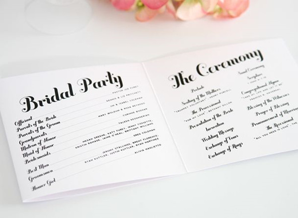Wedding Program Wording - EverAfterGuide