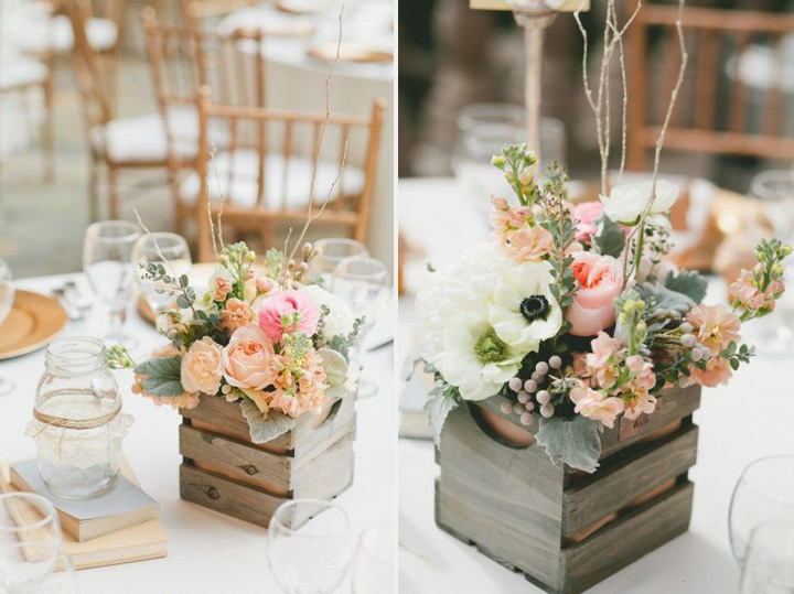 24 best ideas for rustic wedding centerpieces with lots of picture old wooden boxes are easily available and also quite affordable for a rustic themed wedding it could be perfect with artistically arranged flowers junglespirit Choice Image