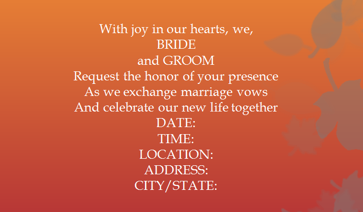 15 samples for casual invitation wording for wedding everafterguide filmwisefo
