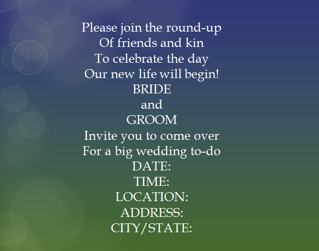 Non Traditional Wedding Invite Wording: 15 Samples For Casual Invitation Wording For Wedding