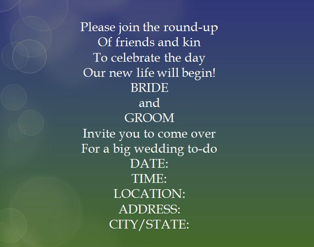 Informal Wedding Reception Invitations Wording: 15 Samples For Casual Invitation Wording For Wedding