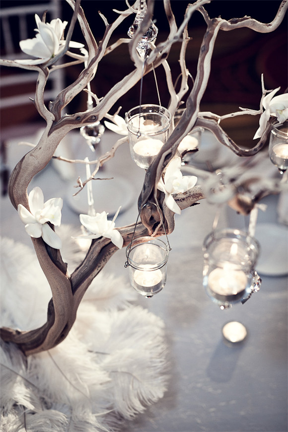 tree branches can also provide an enchanting setting for your bridal shower the tree branches can be spray painted white silver or gold and decorated