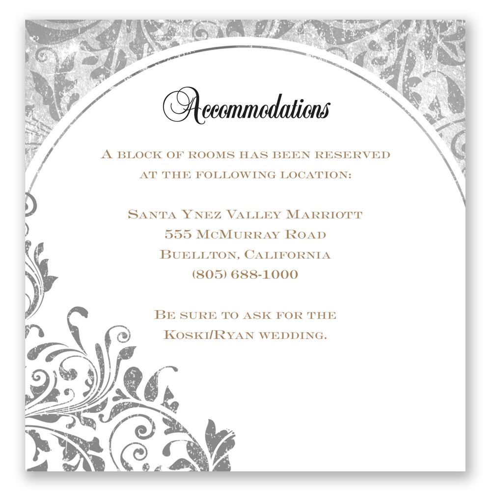 Ideas about wedding invitation wording everafterguide accommodation card these are not ideas about wedding invitation wording filmwisefo Choice Image