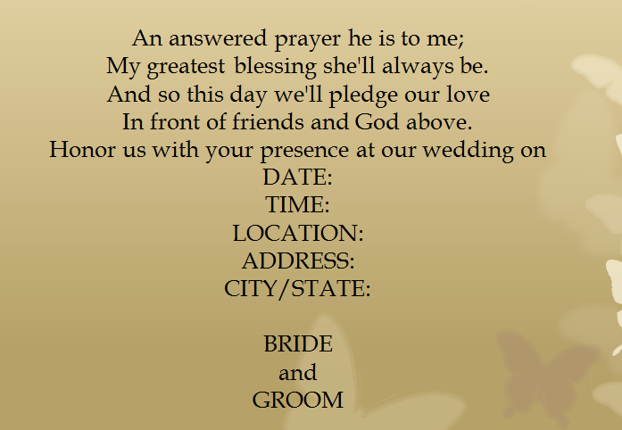 Wedding Invitation Wording English: 15 Samples For Casual Invitation Wording For Wedding