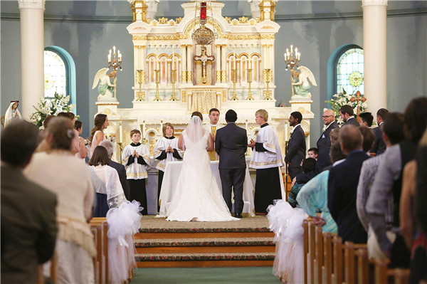 Catholic wedding ceremony procedure and traditions everafterguide the priest will read from any of the first four books of the new testament matthew mark luke and john they will then expound and reflect on what he junglespirit Image collections