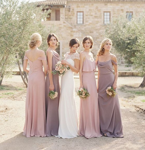 Combining Plain And Sequined Ones Look Festive Thirdly Metallic Bridesmaid Dresses In Diffe Neutral Shades Is Yet Another Sleek Style