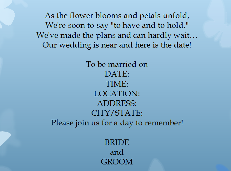 15 samples for casual invitation wording for wedding everafterguide