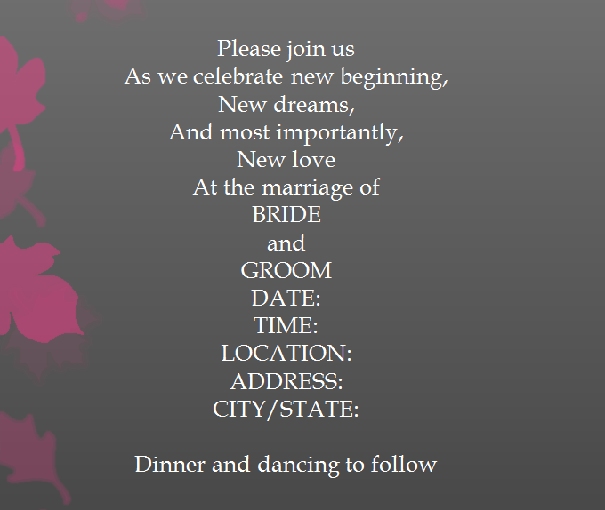15 samples for casual invitation wording for wedding everafterguide stopboris Gallery