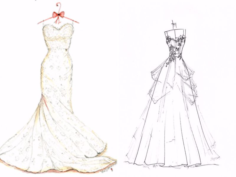 You Should Sketch The Front And Back Of Dress Any Details Want To Add Which Will Give A Guide For How Make Wedding