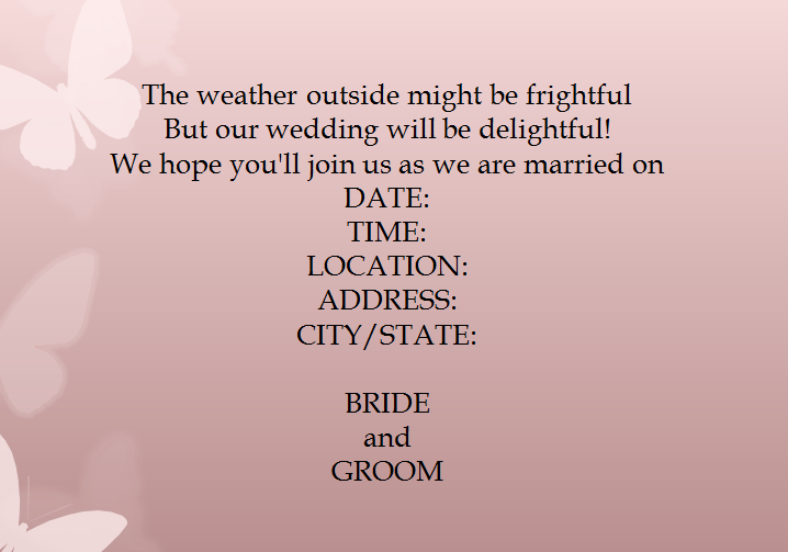 Casual Wedding Invitation Wording.15 Samples For Casual Invitation Wording For Wedding Everafterguide