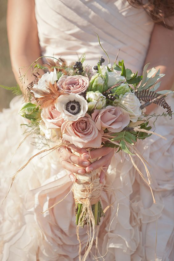 Bridal bouquets gallery bouquets in every color everafterguide blush pink bridal bouquet mightylinksfo