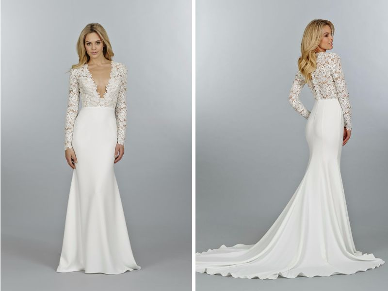 Tara Keely S Long Sleeve Wedding Dress Style 2405
